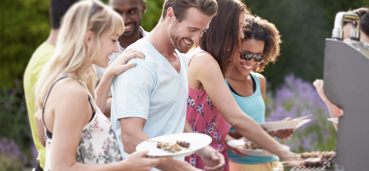 group of friends at a cook out - newark de apartments
